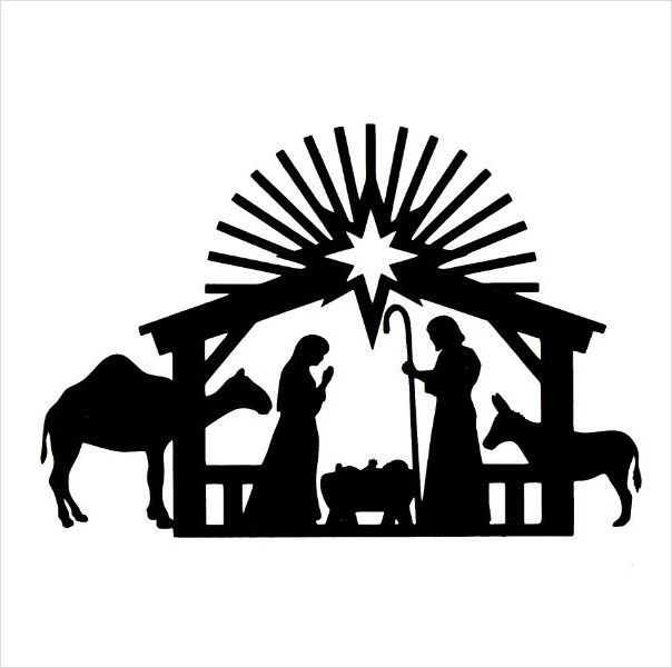 Printable Nativity Scene Silhouette | New Calendar Template Site