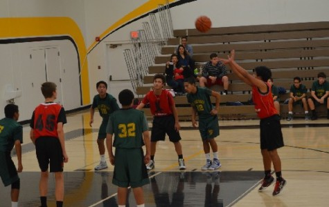 Andrew Cabato takes a free throw in a basketball game against St. Raymond in the Bosco Tech Tournament.