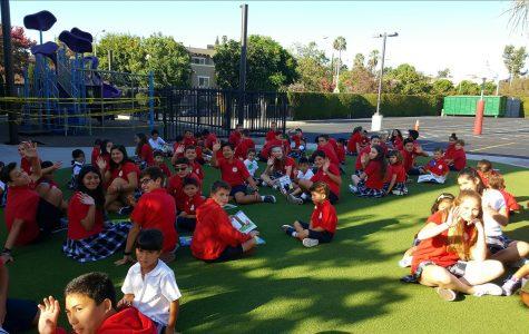 8th Graders and Kindergardeners Meet