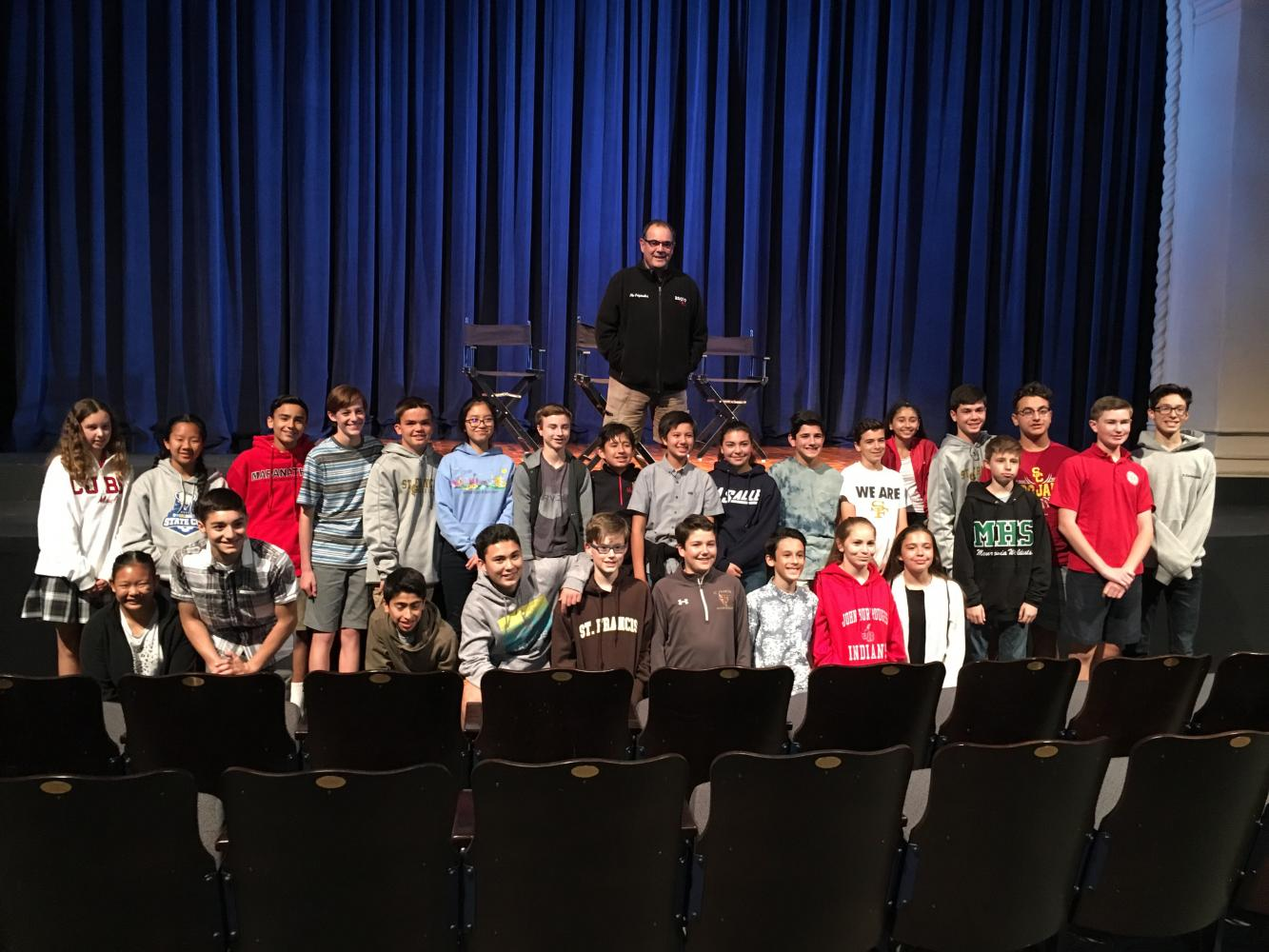 8th+Grade+with+an+Actor+from+the+Play