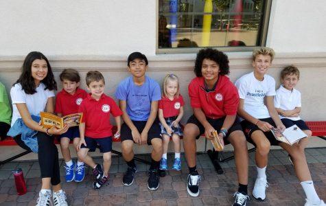 Kindergartners Meeting Their 8th Graders
