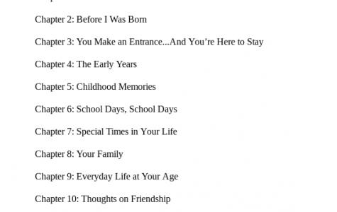 Eighth Grade Autobiographies