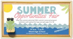 Westridge Summer Opportunities Fair