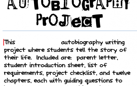 8th Grade Autobiography Project